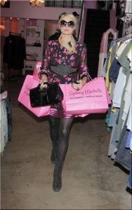 Paris Hilton shops at Sydney Michelle boutique in the Beverly Glen marketplace after eating lunch at The Beverly Glen Deli. Los Angeles, California - 23.02.10 Mandatory Credit: WENN.com